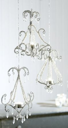 chandelier wire for tea lights