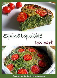 Spinatquiche low carb Die ist richtig lecker, schnellzubereitetund macht sich auch sehr gut auf einem Buffet. Ihr könnt natürlich auch frischen Spinat verwenden und für eine große Springform glei…