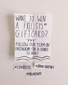 You can still enter our last BIG giveaway of 2015! Enter for the chance to win 1 (of 20!) $15 gift cards! Loads of ways to enter (see previous posts for ALL ways) - one of which is to follow our team on Instagram - @tjmousetis @brookecourtney @mrsalexaeby and comment on this photo tagging 2 friends. Enjoy! (Winners will be messaged directly in the new year.) #walkinlove #walkinlovesaysthanks