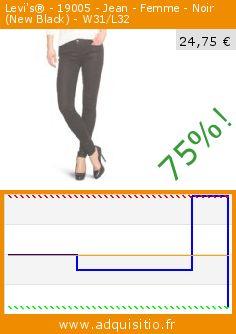 Levi's® - 19005 - Jean - Femme - Noir (New Black) - W31/L32 (Vêtements). Réduction de 75%! Prix actuel 24,75 €, l'ancien prix était de 99,00 €. http://www.adquisitio.fr/levis/%C2%AE-19005-jean-femme-noir