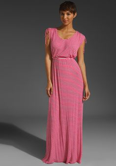 Rachel Pally Rib Tempest dress in red and white stripes. Love this cut.