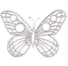 "Beaded Butterfly - Pink wire with pearlized beading looks great in a grouping or on it's own. 15""x11"" Medium (large & small also available) $24.00 from www.nobleniches.com #butterfly #girlsroom #nurseryideas #baby #kidsroomdecor #nurserywalldecor #babygirl"