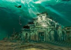 A Chinese city under water