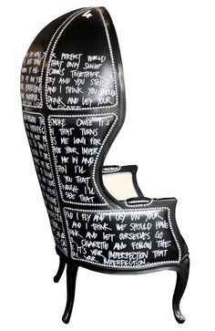 graffiti on chair - Google Search