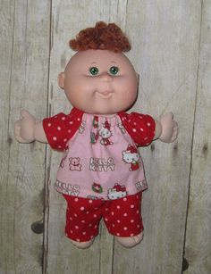Cabbage Patch Newborn Doll Clothes Hello KItty by Dakocreations