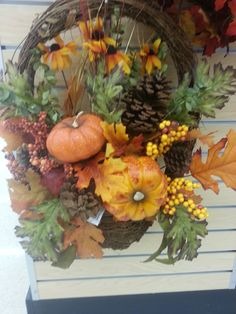 Fall harvest wreath from Stauffers Home & Garden Store.