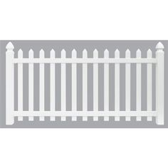 Shop Freedom Newport White Gothic Picket Vinyl Fence Panel
