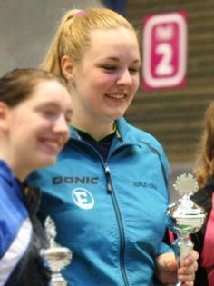 Angelique Gertenbach, trainend bij de TTSD, wint de Nederlandse titel bij de meisjes junioren, 2014