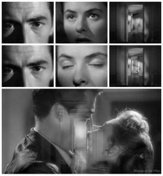 Spellbound: Gregory Peck and Ingrid Bergman Romantic Movie Scenes, Romantic Movies, 1940s Movies, Old Movies, Psychological Thriller Movies, Torn Curtain, Sequence Of Events, Ingrid Bergman, Love Scenes