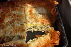 Placinta cu pui-Kotopita Spanakopita, Tart, Food And Drink, Pizza, Ethnic Recipes, Kitchens, Cake, Pie, Tarts