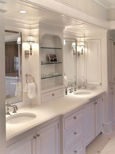 "Traditional Master Bathroom with Signature Hardware 18"" Oval Undermount Bathroom Sink, Master bathroom, Raised panel, Flush"