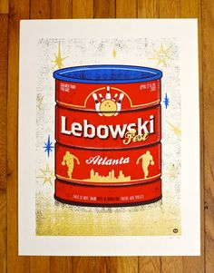 Lebowski Fest  Atlanta 2012 Screen printed poster by knifemen, $15.00
