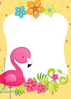 Invitación. Flamenco. Flamingo Party, Flamingo Birthday, Baby Shower Deco, Baby Showers, Birthday Wishes For Kids, First Birthday Parties, Luau Favors, Cute Pictures To Draw, Winnie The Pooh Drawing