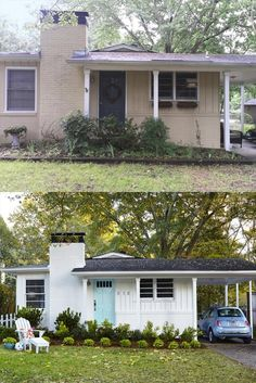 Home Exterior Makeover, Exterior Remodel, Home Renovation, Home Remodeling, Exterior Renovation Before And After, Kitchen Renovations, Exterior Design, Interior And Exterior, Exterior Paint