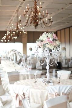 Illuminations Design Studio: Real Wedding - Crystal Candelabras - Feauture Cori Cook (Floral Designer) & Becky Young (Photographer)