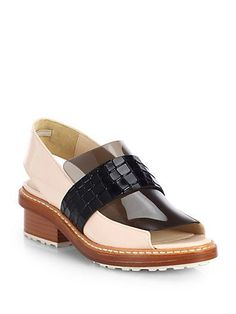 Shop now: 3.1 Phillip Lim Darwin Mixed Media Open-Toe Loafers