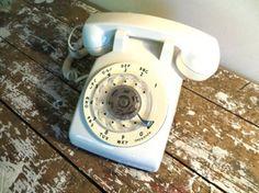 Rotary Phone White Modern Telephone .... I remember my grandma hsd one of these