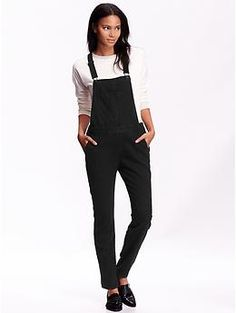 Womens Black Overalls