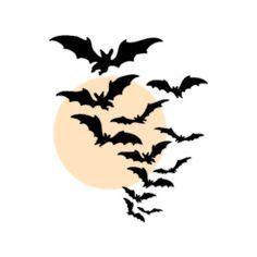 flying bats clip art | Black Flying Bats Halloween Clip Art, Free Halloween Graphics from Pas ...