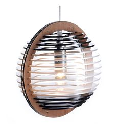 Take a simple, modern approach to lighting your beloved niche at home, a resting area in your living room or your bedroom. A great home lighting. This wood & perspex pendant allows you to maximize the amount of light in your space while customising the cord length to the desired length. Back to my shop: https://www.etsy.com/shop/iinsecto?ref=hdr_shop_menu my name Orbit Small B/W/B - SALTO Catalog No ORB-200-BWB materials Poplar Wood Perspex color Bl...