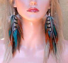 diy feather earrings - Google Search
