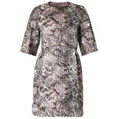GIAMBATTISTA VALLI Metallic reptile-jacquard dress ($810) ❤ liked on Polyvore