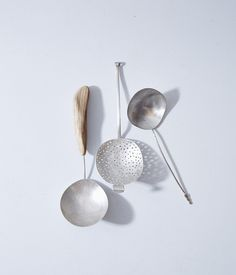 Image of delicate silver spoon