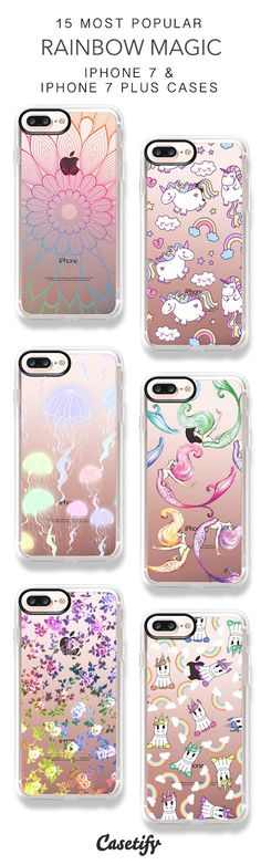 15 Most Popular Rainbow Magic iPhone 7 Cases and iPhone 7 Plus Cases. More Rainbow iPhone case here > https://www.casetify.com/collections/top_100_designs#/?vc=3KNutt6OJc