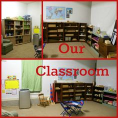 Back-to-School Classroom Tour from Our Montessori Home Classroom Setup, School Classroom, Montessori Classroom, Classroom Design, Montessori Homeschool, Online Homeschooling, Home Schooling, Online Schooling, Fun Activities For Kids