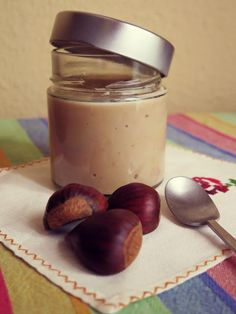 Crema de castañas Food N, Diy Food, Food And Drink, Sweet Recipes, Cake Recipes, Salsa Dulce, Tasty, Yummy Food, Healthy Gluten Free Recipes