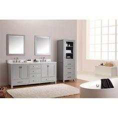 Modero Chilled Gray 72 Inch Double Vanity Only Avanity Vanities Bathroom  Vanities