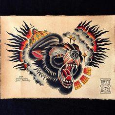 #bear #beartattoo #tickertattoo #tickerнутые #tattoo #tattoos #tattooed #tattoolife #tattooartist #traditional #tradition #traditionaltattoo #classictattoo #topclasstattooing #besttradtattoos #thebesttattooartists #oldschool #oldschooltattoo #tattooart #colortattoo #oldlines #ink #inked #skinart #spb #spbtattoo #art #flash #tattooflash #tattoodesign