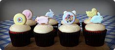 Variery Cookie Pops - Cupcake Toppers by Katie's Something Sweet, via Flickr  (macaron)