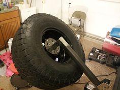 Hitch mount tire carrier - JeepForum.com