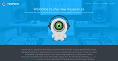 Vespers.ca's website redesign - screenshot of home page.
