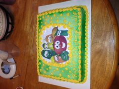 Veggie tale cake I made