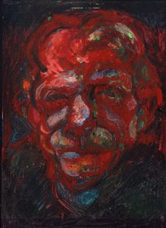 """Cabeza"" - 2009 - Pastel óleo sobre papel"