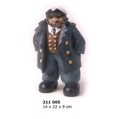 Figura marina de capitán con chaleco