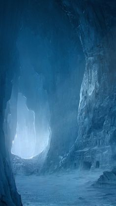 Caves outside Themerlyn (ice temple by ~regnar3712)
