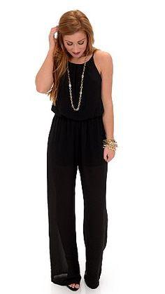 My Better Half Jumpsuit, Black :: NEW ARRIVALS :: The Blue Door Boutique