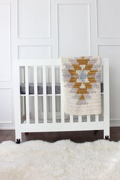 Lil' Fox Kilim Blankie Aztec Modern Baby Blanket by lilfoxshoppe
