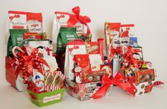 Holiday Gift Baskets Holiday Gift Baskets, Holiday Gifts, Russell Stover, Business Profile, Novelty Items, Floral Arrangements, Party Favors, Custom Design, Gift Wrapping
