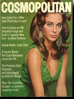 Cosmopolitan magazine, NOVEMBER 1967 Model: Paula Pritchett
