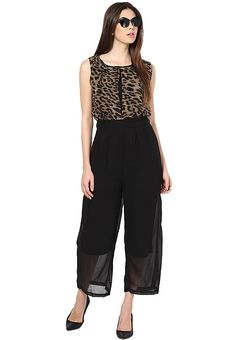 #style Party Wear Jumpsuit!! Material ; Georgette  Color: Brown Fit Type: Regular Fit Occasion: Party wear & Casual