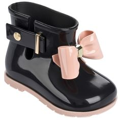 fc6559cd3f West Coast Kids · Back to School Shoes and Boots · Mini Melissa Sugar Rain  Bow Boot - Black - 5 Bow Boots, Girl Boots,