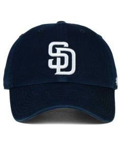 301a37572a7  47 Brand San Diego Padres On-Field Replica CLEAN UP Cap   Reviews - Sports  Fan Shop By Lids - Men - Macy s