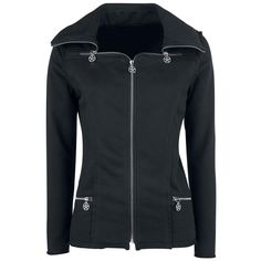 - Open edges - Zip details - Decorative stitching  The Sweatjacket knitted jacket by Fashion Victim comes with a remarkable zip system. The zips are decorated with a pentagram. The back of the jacket has particularly chic gatherings that skilfully reinforce and elevate the already striking design.