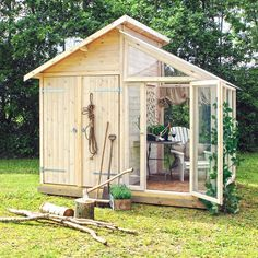 Garden shed/personal sunroom combo ☼ via mandasmirakel blog