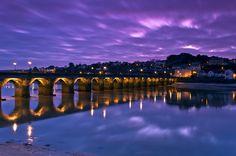 Bridge in Bideford, Devon, England.