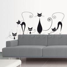 Gatos negros Vinilos decorativos en AllPosters.es